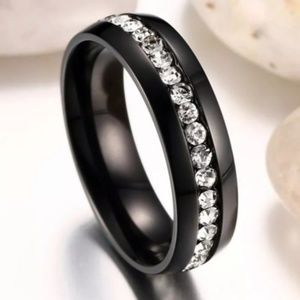Titanium Stainless Steel Ring/Band Size: 8